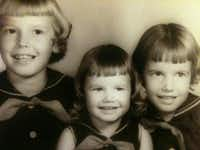 A childhood photo shows three of the Marion sisters: Jimmye, Belinda and Debbie. All three women — Jimmye Hill, Belinda Hawkins and Debbie Howard — and a fourth sister were diagnosed with breast cancer as adults. Hawkins and Howard will model clothing in the You're Beautiful! Style Show and Luncheon on Jan. 31.Courtesy photo