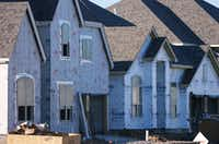 New houses are under construction at the Harvest development off FM407.David Minton