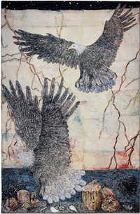 "Artist Kiki Smith's ""Guide"" is a 2012 Jacquard tapestry measuring 119 by 76.5 inches.Pace Gallery - Courtesy photo"