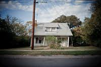 """Denton resident Dave Koen shot this photo of the """"leaning house"""" at 1822 W. Oak St. in 2010, before it was torn down and replaced.Dave Koen - Courtesy photo"""