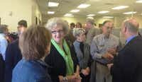 Guests tour the new offices of United Way of Denton County at a ribbon-cutting ceremony in Denton on Wednesday.Courtesy photo