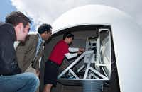 A new weather radar sensor like the one shown above will be installed soon at the University of North Texas' Discovery Park. It is one of four CASA (Collaborative Adaptive Sensing of the Atmosphere) radar units being installed in the Dallas-Fort Worth area through a partnership with the University of Massachusetts Amherst.Courtesy photo