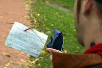 Davy Rothbart, creator of Found Magazine, reads a note he found in Washington in 2004.Preston Keres