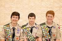A Court of Honor ceremony was held March 8 at the Argyle United Methodist Church to award the rank of Eagle Scout to three members of Boy Scout Troop 192 to, from left, Evan Peak, Andrew Heine and Reeves Moseley.David J. Peak - Courtesy photo