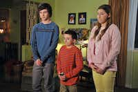 """Axl (Charlie McDermott), Brick (Atticus Shaffer) and Sue (Eden Sher) are the Heck kids in ABC's """"The Middle."""" The third season of the sitcom comes to DVD on Tuesday.ABC"""