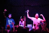 Seattle alt-hip-hop artist Astronautalis — a.k.a. Andy Bothwell, right — used to show off his freestyle prowess at Denton venues when he was a college student in Dallas. He'll play on Oaktopia's main stage just off the Square on Saturday.Courtesy photo