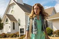 "Angie (Britt Robertson) and the other townsfolk of Chester's Mill, Maine, find themselves trapped under a giant, impenetrable, transparent structure in ""Under the Dome.""CBS Entertainment"