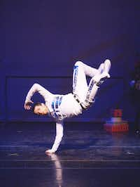 "Professional hip-hop dancer Chris Koehl dances the role as the Robot Doll in Denton City Contemporary Ballet's ""A Gift for Emma."" The Denton original, created and choreographed by srtistic director Lisa Racina, borrows a touch from ""The Nutcracker"" but employs tap, jazz, modern and ballet.Courtesy photo"