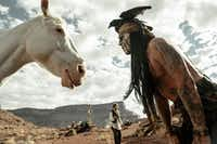"Johnny Depp, right, plays Tonto and Armie Hammer is the title star in ""The Lone Ranger.""Disney Enterprises Inc. and Jerry Bruckheimer Inc."