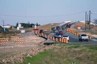 Construction work on U.S. Highway 380 is shown west of Denton on Nov. 27.David Minton - DRC file photo