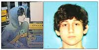 This image provided by the Boston Regional Intelligence Center shows Dzhokhar A. Tsarnaev, identified by the FBI as suspect number 2, in the Boston Marathon bombings. Authorities say Tsarnaev is still at large after he and another suspect  both identified to The Associated Press as coming from the Russian region near Chechnya  killed an MIT police officer, injured a transit officer in a firefight and threw explosive devices at police during their getaway attempt in a long night of violence into the early hours of Friday, April 19, 2013. The second suspect, who has not yet been identified, was killed in a shootout with police.