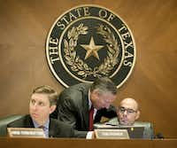 State Rep. Tan Parker, left, listens at a May 2015 hearing at the Capitol in Austin.Jay Janner, Austin American-Statesman/AP file photo