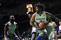 North Texas forward Jeremy Combs is one of the Mean Green's best players and would be a huge asset if he returns for his senior year.DRC file photo