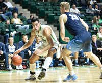 North Texas forward Shane Temara (50) came on late in the season after Jeremy Combs was lost for the year due to injuryDRC file photo