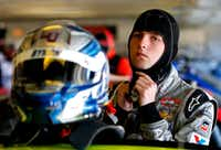 William Byron, driver of the #9 Axalta/Priefert Chevrolet, stands in the garage area during practice for the My Bariatric Solutions 300 at Texas Motor Speedway on Friday in Fort Worth. Sean Gardner/Getty Images