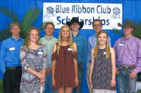 Winners of $1,000 scholarships from the Blue Ribbon Club are pictured during the recent awards ceremony. The Blue Ribbon Club is a support group of the Denton County Youth Fair.Courtesy photo