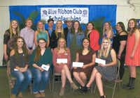 Winners of $500 scholarships from the Blue Ribbon Club are pictured during the awards ceremony. The Blue Ribbon Club is a support group of the Denton County Youth Fair.Courtesy photo