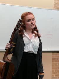 Kristyn Leonard plays the role of Ginny Weasley in 'A Very Potter Musical,' a parody of the Harry Potter book series. MusiComedies, a UNT student group, performs 'A Very Potter Musical' 7 p.m. on Friday and Saturday, April 21-22 and at 2 p.m. on April 22 in the Eagle Student Services Center located in the UNT Student Union, 1155 Union Circle.Lucinda Breeding