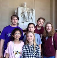 "<p><span style=""font-size: 1em; background-color: transparent;"">Selwyn College Preparatory School students, from left, Chris Hensel, Alizeh Mubarak, Sabella Smith, Aurora Bickham, Ethan DeBruyn and Ella Perry pose in front of the Lincoln Memorial in Washington, D.C. The group traveled to the capital last month to participate in the National High School Model Arab League and the National History Bee and Bowl.</span></p>Photo courtesy Selwyn College Prepatory School"