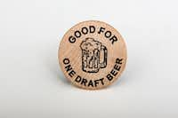 """<p><span style=""""font-size: 1em; background-color: transparent;"""">Anybody heading up to Spavinaw, Oklahoma, soon? This wooden nickel is """"Good for One Draft Beer"""" at Taco's Tavern there. Some ex-staffer here had it stashed away in a desk drawer for a rainy day -- or a dry day.</span></p>"""