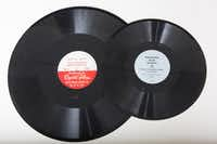 """<p><span style=""""font-size: 1em; background-color: transparent;"""">You're familiar with regular 12-inch LPs, 7-inch 45s and the hipsters' beloved 10-inch. Here's a 16-inch record -- NRDGA-NAEA's """"How to Prepare Better Newspaper Advertising"""" -- alongside a 12-inch, the ANPA Bureau of Advertising's """"Newspapers Mean Business."""" The 16-inch record is too big to be played on a regular record player -- or, as a customer said recently at Mad World Records, a """"vinyl machine.""""</span></p>"""