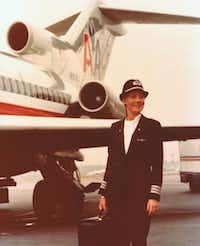 Argyle resident and retired American Airlines pilot Beverley Bass is pictured in 1977, shortly after being hired as one of the first three female pilots for the carrier. In 1986, she was the first woman to be promoted to captain at American Airlines.