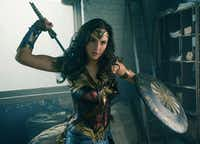 Gal Gadot in a scene from <i>Wonder Woman</i>, in theaters on June 2. AP
