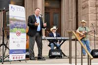 "<p><strong style=""font-size: 1em; background-color: transparent;"">Dan Decker, Texas Travel Industry Association COO, singer Gary P. Nunn and guitarist Derek Groves kick off the What I Like About Texas campaign at the Texas State Capitol on May 26.</strong></p>Courtesy photo/Texas Travel Industry Association"