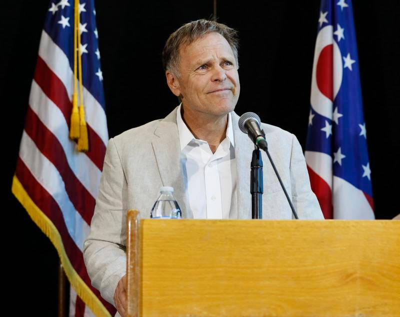 Fred Warmbier father of Otto Warmbier a University of Virginia student who was imprisoned in North Korea speaks during a news conference Thursday at Wyoming High School in Cincinnati