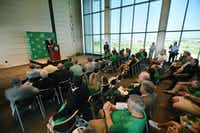 Wren Baker speaks at a press conference after being introduced as the University of North Texas' new athletic director on Aug. 1, 2016, at Apogee Stadium.