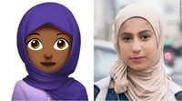 Apple included a hijab-wearing emoji in the collection of new symbols that will be available to Apple device users later this year. The emoji of a headscarf-wearing Muslim girl was proposed by a young Muslim woman, Rayouf Alhumedhi.Apple/Unicode Consortium