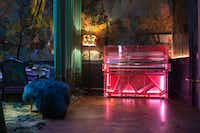 Designer Dio Davies was inspired by Blade Runner and Tron when she created this pink, transparent perspex piano. It has pink neon lights inside and is compatible with wireless iPod devices for self-playing mode.  It's also more expensive than some cars, priced at $50,000.Edelweiss Pianos
