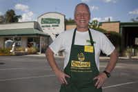 Paul Tanis, Cupboard general manager, poses in front of Cupboard Natural Foods.DRC file photo
