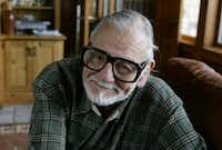 """Director and writer George Romero poses for a photograph while talking about his film """"Diary of the Dead' at the Sundance Film Festival in Park City, Utah. Romero died Sunday, July 16, 2017 following a battle with lung cancer.AP"""