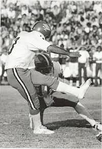 Iseed Khoury helped lead UNT to one of its rare wins over SMU outside of Denton during the 1977 season.