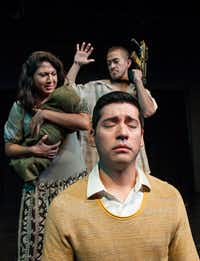 From left, Liz Magallanes, Ivan Jasso and David Zaldivar in a scene from Cara Mia Theatre's 'Deferred Action.'   The play will come to Denton on tour with performances at 8 p.m. on Thursday through Saturday, Sept. 21-23 at the University Theatre in the Radio, Television, Film and Performing Arts Building, 1179 Union Circle.  $15 for adults, $10 for students, senior citizens, UNT faculty and staff.Courtesy photo