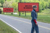 Frances McDormand is a grieving mother with a vendetta against the local sheriff in <i>Three Billboards Outside Ebbing, Missouri.</i>Fox Searchlight Pictures