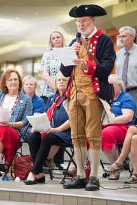 To celebrate Constitution Day, the local chapter of the Daughters of the American Revolution presented a reading of the Constitution and a bell-ringing ceremony Sunday at Golden Triangle Mall.DRC