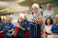 "<p><span style=""font-size: 1em; background-color: transparent;"">To celebrate Constitution Day, the local chapter of the Daughters of the American Revolution presented a reading of the Constitution and a bell-ringing ceremony Sunday at Golden Triangle Mall.</span></p>DRC"