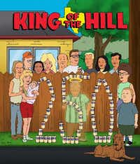 "Hank, Peggy, Bobby and the gang celebrate the 250th episode of ""King of the Hill."""