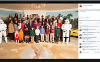 Amber Briggle and her son, Max, attended a screening of 'Rogue One: A Star Wars Story' at the White House. Briggle recently received a photo of the guests with President Barack Obama and First Lady Michelle Obama.Courtesy photo
