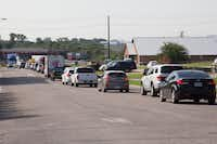 Traffic was backed up along Mesa Drive and Interstate 35 frontage road due to an accident near West University Drive and Marshall Road in September. DRC