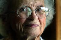 Shady Shores Mayor Olive Stephens, is pictured at the Community Center in Shady Shores at age 88.Dallas Morning News file photo