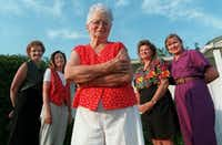 Olive Stephens shown with her all- woman city council: Kathe Strantz, Susan Strieter, Kimberley Meier, and Nita  Watkins in this 1997 file photo.The Dallas Morning News