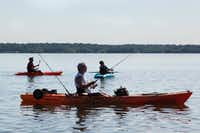 Visitors fish and canoe at Lewisville Lake in Shady Shores in 2016.DRC