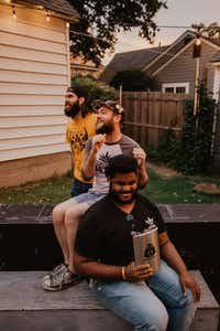 From top: Taylor Higginbotham, Brad McKenzie, and Javoris James are Denton comics. The three men have performed at Killer's Tacos and are devoted to building Denton's comedy scene.Lindsey Hanley