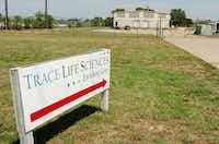 A 2012 file photo shows the former Trace Life Sciences plant on Jim Christal Road in Denton.DRC file photo