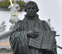 The Denton Bach Society celebrates Martin Luther with a performance on Sunday.Germany is marking the 500th anniversary of the day Martin Luther is said to have nailed up his theses challenging the Catholic Church's practice of selling indulgences, a starting point of the Reformation.AP