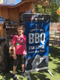 Corinth Elementary fifth-grader Charlotte Murray competes at the State Fair of Texas Carnival Kids BBQ Challenge co-hosted by Food Network star Guy Fieri.Lake Dallas ISD