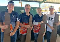 The Liberty Christian Clay Target Team won third place at the school's Clay Shoot Challenge last month in Irving. Pictured are students Nate Cryer, Matt Hilton, Kassidy Keith and Jack Hooper. ORG XMIT: IliHvuyoopepbIRSOg3KLiberty Christian School